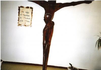 Cristo hecho por un preso de la Capilla de la Cárcel de Herrrera.