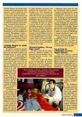 La Familia Trinitaria con los damnificados del Terremoto de Perú (Entrevista a un Religiosos Trinitario destinado allí) (II)