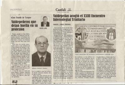 Encuentro Intercolegial Trinitarios 2008 en Valdepeñas.