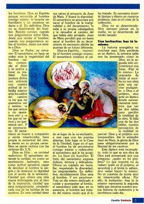 REFLEXIÓN PARA EL DÍA DE LA SANTÍSIMA TRINIDAD, ESCRITO POR IGNACIO ROJAS.(II)